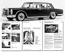 Mercedes Benz W100 600 Workshop Service Manual M100 Factory shop