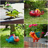 Metal Animal Garden Ornament Colourful Hand Painted Outdoor Quirky Unusual
