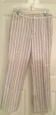 New Nine West Multi Colored Striped Denim Jeans Size 6, Inseam 32, NWOT