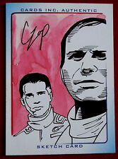 THUNDERBIRDS ARE GO! - SCARCE COLOUR SKETCH CARD, JEFF & GORDON TRACY, JOHN CZOP