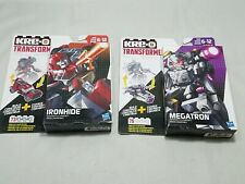 Lot 2 KRE-O Transformers Megatron Kreon Battle Changer Ironhide Hasbro