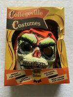 Vintage Halloween Costume Collegeville Skeleton Reflecta Lite Complete In Box