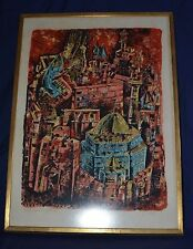 BEAUTIFUL YOSSI STERN ( 1923 - 1992)  JERUSALEM LITHOGRAPH ARTIST'S PROOF E/A
