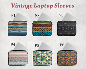 "Retro Vintage Laptop Bag Sleeve 14"" 15"" Cover Case Pouch HP DELL Macbook Lenovo"