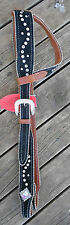 STUNNING BELT STYLE ONE EARRED LEATHER HEADSTALL COB/FULL, NEW WITH TAGS