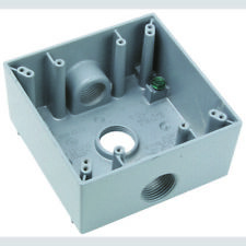 """Pass & Seymour WPB332 All Weather Gray 3 Hole 3/4"""" Outlet Boxes (5)"""
