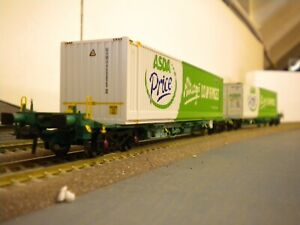 Bachmann Intermodal wagons with Asda 45FT containers MIB