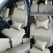 Beige Car Seat Cover Truck PU Leather Fit For 2009-2018 Dodge Ram 1500 2500 3500