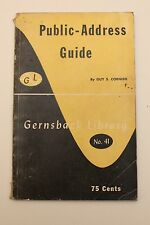 Public Address Guide - Guy Cornish - Gernsback Library # 41 - 1952 - AC
