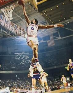 Julius Erving Autographed/Signed Philadelphia 76ers 16x20 Photo BAS 30626