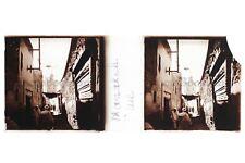 Maroc Marrakech Rue Plaque de verre stereo Positif