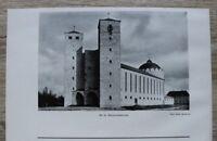 1 Blatt 1929 Bamberg Heinrichskirche Kirche Architektur Ofr 23x14cm