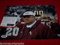 BOBBY BOWDEN AUTOGRAPHED FLORIDA STATE 8x10 PICTURE PSA DNA CERTIFIED