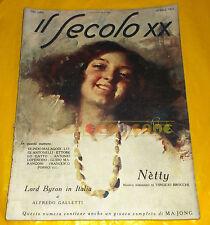 IL SECOLO XX 1924 Aprile Giuseppe Palanti, Olindo Malagodi, Luigi Antonelli