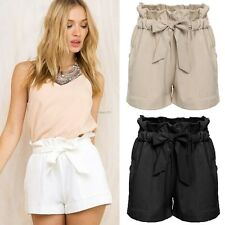 PLUS SIZE S-XXL WOMEN HIGH WAIST SHORTS SUMMER BEACH CASUAL SHORT HOT PANTS BELT