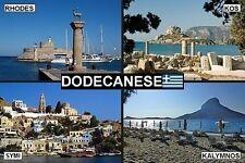 SOUVENIR FRIDGE MAGNET of THE DODECANESE GREECE & RHODES & KOS & SYMI