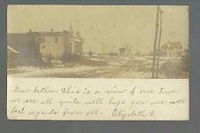 Church IOWA RP 1907 MAIN STREET Snow WINTER nr Waukon Lansing Decorah New Albin