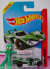 Case G/H 2014 i Hot Wheels 24 OURS #164☆Green/white; 3 ☆HW Race ☆ Track Aces