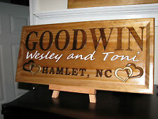 "11"" x 23"" x 3/4  Personalized Family Name, Carved, Camper Sign, Welcome Sign"