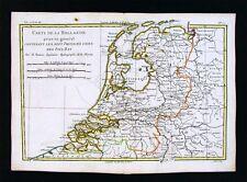 c1780 Bonne Map - Holland Belgium Netherlands Amsterdam Antwerp Brussels Utrecht