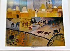 August Macke Poster Kairoan I  Bedouine Camp Offset Lithograph Unsigned 14x11
