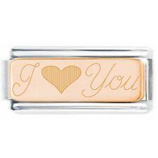 LA CIMA - Valentine I Love You - Full Italian Charm Bracelet or Charm Engraved