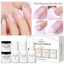 BORN PRETTY 5Pcs/Box Nail Glitter Dipping Powder System Dip Liquid No UV Needed