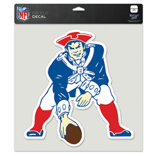 "New England Patriots 8"" x 8"" Retro Logo Truck Car Window Die Cut Decal Color"