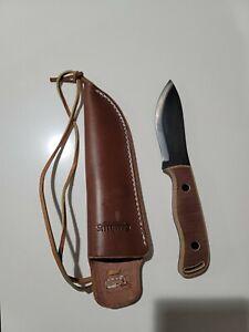 Camillus Bushcrafter knife w/ leather sheath USA