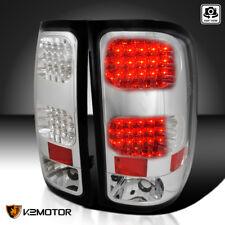 2007-2014 GMC Sierra 1500 2500 Denali Clear LED Tail Brake Lights Lamps Pair