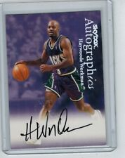1999-00 SKYBOX AUTOGRAPHICS HAYWOODE WORKMAN ON-CARD AUTO ORAL ROBERTS