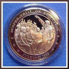 "1925 Scopes ""Monkey"" Trial on Evolution - Solid Bronze Medal"