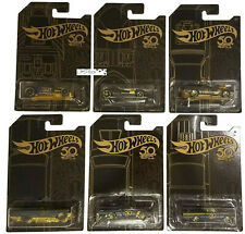 Hot Wheels 50th Anniversary Black & Gold 2018 Full Set Of 6 Cars