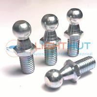 4 x Zinc Plated Steel M8 Thread 10mm Ball Pins Ends for Gas Strut Installation