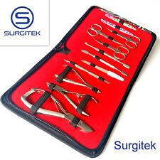 12 piezas Kit de Uñas de Manicura Pedicura Podología Profesional conjunto de herramientas en caso