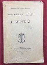 Frédéric Mistral 1906 Discours E Dicho Avignon Langue Provençale Flourege