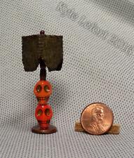 Orange Skulls Stack Table Lamp - 1:12 Scale - Artist Made Dollhouse Miniature