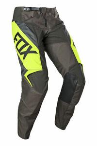 Fox 180 Revn Flo Yellow Adult Motocross Pants 36 inch waist mx bmx