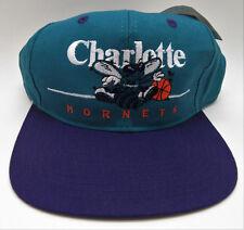 69a31a3f864ef Charlotte Hornets Hat Vintage New w Tags Purple Teal 90s Snapback Taiwan  R.O.C.