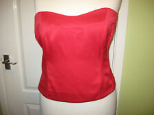 SOUTH PLUS SIZE 24 LADIES RED BUSTIER TOP LACE UP BACK & SIDE ZIP