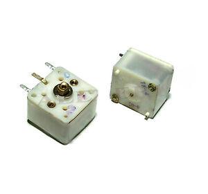 2 pcs Dual 4 - 240pF Variable Capacitor Total 8 - 480pF USSR teflon PTFE NOS