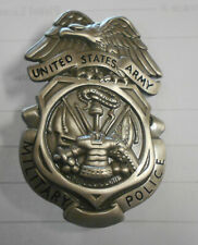 US Army MP Military Police Metal Insignia Brush Color Good for Plaque & Dissplay