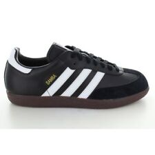 Adidas Samba Chaussures de Salle Cuir Noir Blanc 43 1/3