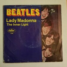 THE BEATLES-LADY MADONNA/THE INNER LIGHT-45-CAPITOL-2138-c1965-WITH PIC.SLEEVE