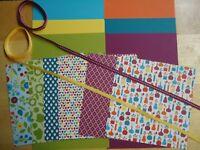 Stampin Up! SUMMER SMOOCHES 6 x 6 Designer Paper Card Kit Ribbon