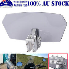 Universal Motorcycle Clip-On Windshield Extension Spoiler Windscreen Adjustable