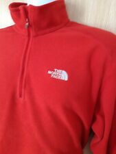 THE NORTH FACE MENS POLARTEC FLEECE...RED..SIZE LARGE...GOOD USED CONDITION