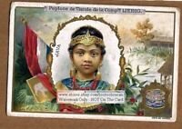 A Pretty Young Woman Of Java Indonesia c1898 Trade Ad Card
