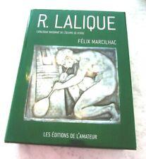 CATALOGUE RAISONNE RENE LALIQUE DE FELIX MARCILHAC