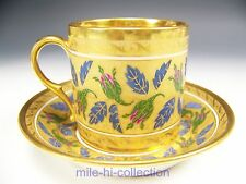 LOVELY OLD PARIS HAND PAINTED FLOWERS TEA CUP & SAUCER